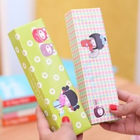 2014 cute girl design single layer pen boxes pencil box   pencil case 20*6*3.5cm  Free shipping