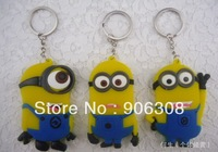 2014 New Arrival Keychains 12pcs/Lot  Key Rings Key Chain Wholesale 3Designs Mixed Animal Keychains 8cm