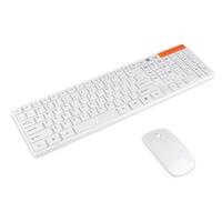 2.4g мультимедиа оптический беспроводной клавиатуры и мыши usb приемник комплект для ПК белый