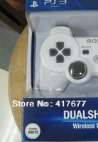 Free Shipping by EMSl!!!HOT New Blue packaging Wireless Bluetooth SixAxis Gamepad Controller for PS3