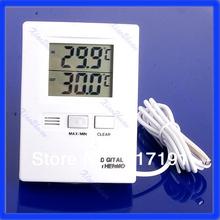 P80 termómetro digital del envío del nuevo LCD de interior y exterior Temperatura Medidor Blanca(China (Mainland))