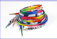 Fashion!!50pairs/lot~Hot!!Solid Shoelaces(cotton,elastic,sliver,hollow,glittery),oval flat colorful shoelaces