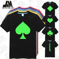 JACK Poker texas nightclub pire Mens Glowed  party T-Shirt OEM t shirt