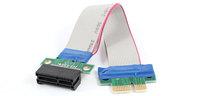 PCI-E 4X Slot Riser Card Extender Extension Ribbon Flex Cable Adapter
