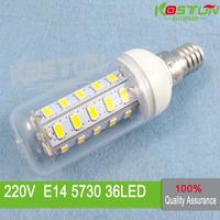 6X  36 SMD 5730 E14 led corn bulb lamp,  Warm white /white led lighting  led corn lighting  ,led lamps