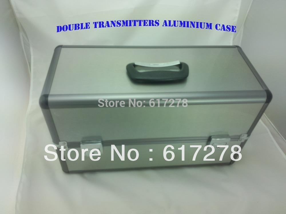 Free Shipping RC Metal Double Transmitters Box Alu Aluminium Case for JR FUTABA WFLY KDS ESKY Walkera Flysky tx C remote control(China (Mainland))