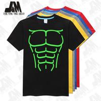 Muscles 3D women / men t-shirt muscle hot tee shirt  party glowed tshirt