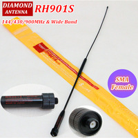 Newest! SMA Female Dual Band antenna RH901S (VHF&UHF) SMA-F antenna For two way radio Baofeng UV-5R UV-82 UV-B6 TG-UV2 KG-UVD1P