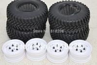 "Crawler Tire/white color wheels/rims set 1.9"" 96mm-4pcs for tamiya CC01 JEEP Pajero D90/ rc4wd"