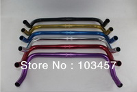 Free shipping, Bicycle Bent Handlebar, 25.4*400mm Multi Color Bike Handlebar for Fixed Gear/Road Bike, Bicycle Parts