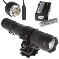 Waterproof CREE XM-L2 1600LM Bicycle Led Flashlight + Battery Charger + 2PCS Batteries + Remote Pressure Switch + Bracket Mount
