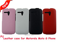 Litchi Classic PU Leather Flip Cover Up and Down Case for Motorola Moto G Phone Fashion Style Phone Cover  Free Shipping