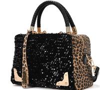 2014 Bolsas Femininas Women Handbags Women Handbags Leopard Print Paillette Casual Bag Shoulder Bags Messenger And Dropship -a10