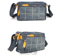 Wolf autumn and winter tribal women's handbag one shoulder cross-body small vintage denim bag 0007