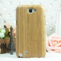 For Samsung Note2 Protective Natural Bamboo Concise Phone Case On The Grade  Texture In Appearance  Environmental