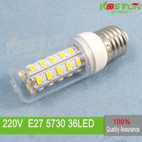 4X  36 SMD 5730 E27 led corn bulb lamp,  Warm white /white led lighting  led corn lighting  , lamps