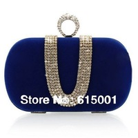 Fashion Korean women Evening Bag crystal dimond Clutch evening bags party bag Free Shipping