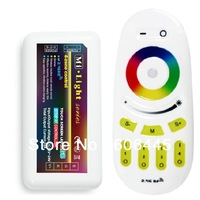 1 remote+2 receivers/pack 2.4G RF Wireless Remote Control Multi Zone RGB LED Controller