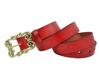 NEW 2014  fashion cowskin leater belts genuine leather belt for women print flower on the strap