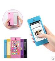 Large Windows Shell For iPhone 5 5S case Cute Fashion  PU Leather Phone Protective Shell For iPhone 5 5s case Free shipping