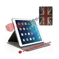 Retro UK/USA National Flag Leather Stand Flag Case for iPad Air 5 (USA/ UK Designs for Choosing)