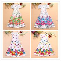 2014 new children clothing Girls Dress cute floral color sleeveless princess dress circle Korean flower butterfly dress