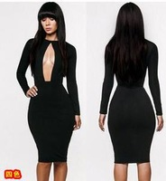 2014 fashion dress long-sleeved sexy dress jumpsuits Dress dress