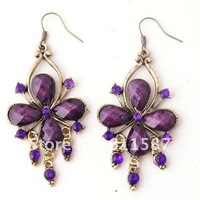 Wholesale Free shipping  hot sale the two circles shaped fashion jewelry  Vintage Earrings  -EG024