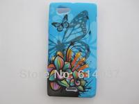 10PCS/lot Flower Butterfly Heart Zebra Vein Star flag pattern Soft tpu case cover for Sony Xperia J st26i
