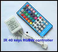 4pcs/lot rgbw ir 40key led controller DC5V 12v - 24v for 5050/3528 led strip light and RGB LED module mini remote control