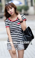 2014 new fashion plus size t shirt women clothing summer sexy tops tee clothes blouses t-shirts