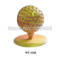 Handmade wood golf ball WT-112h Golf Ball  wood crafts free shipping
