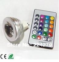 Hot sale 4W MR16 RGB LED Spotlight Bulb Lamp 12V + 24 Key IR Remote