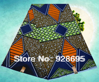 Sales promotion Lovely African Fabric Real Wax Print 6 Yards Cotton
