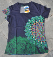 Free shipping NEW summer DESIGUAL women printing short-sleeved shirt Size M L XL XXL 86071