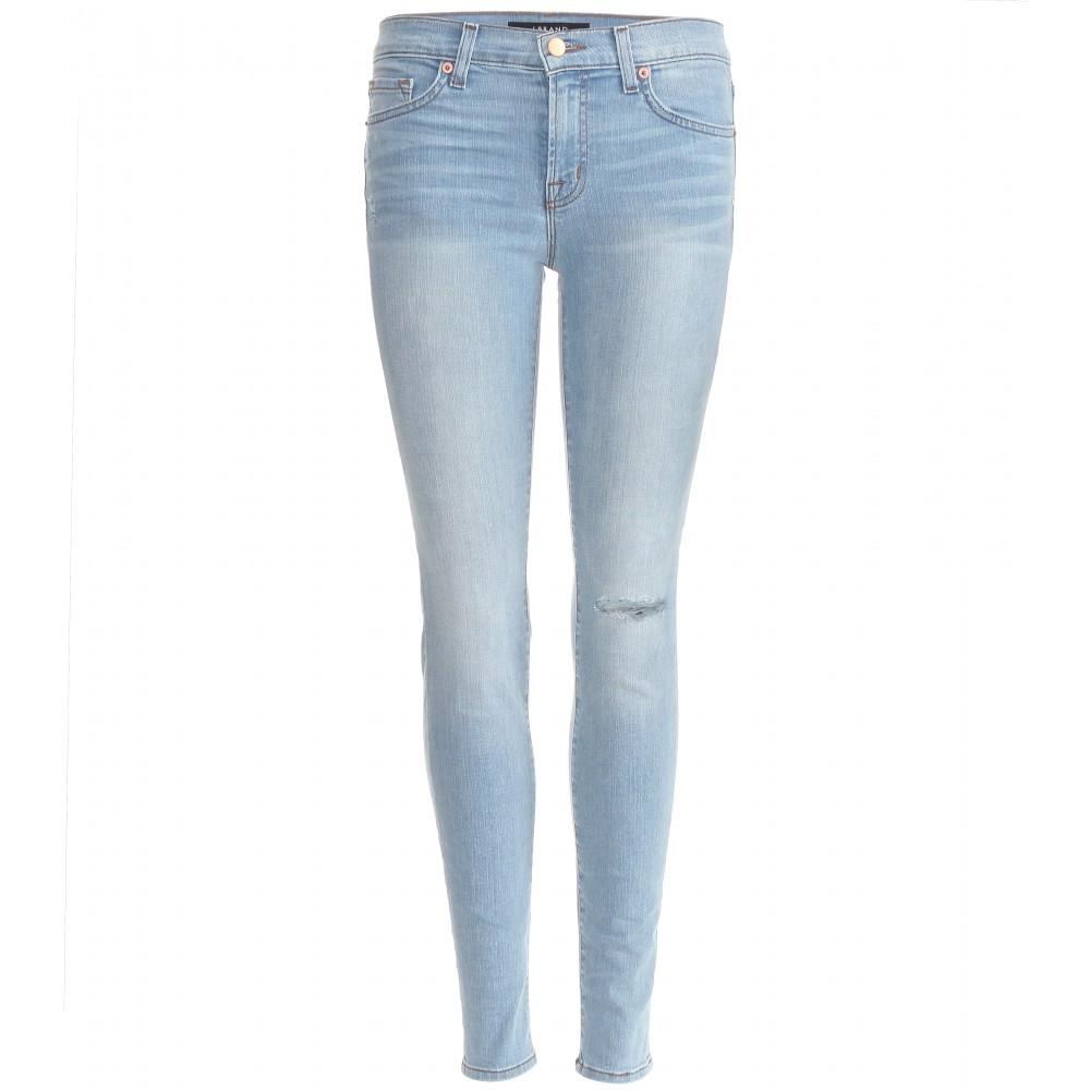 Distressed Denim Skinny Jeans - Jeans Am