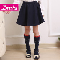 Deesha children's clothing 2014 female child spring son short half-length skirt british style child princess dress