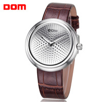 Watch male dom fashion personality cutout genuine leather vintage mechanical waterproof strap watch