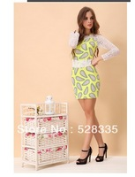 Free shipping 2014 spring summer fashion female sexy sweet princess collar lace dress dress