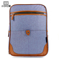 Small fashion color block decoration canvas casual student school bag backpack male women's handbag