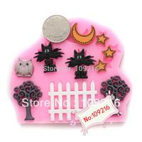 Free shipping !!!1pcs Mini New Style Countryside Yard(F0590) Silicone Handmade Fondant/Cake Decorating DIY Mold