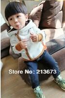 Children's clothing SPRING/AUTUMN coat 2014 Korean boys thick velvet sweater