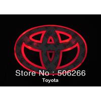 LED Car Decal Logo White Back light for Toyota RAV4 Tail Light Auto Badge Light car sticker