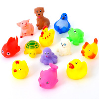 Free shipping 13PCS/Lot  Baby Children Swiming Bath Water Toys Sounding Bath  Animal Bathing With Your Kids Safe Plastic Toys