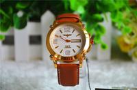 2014 Fashion top Luxury Sports auto Date Quartz Clock  leather strap Men's dress Wrist Watch brand business casual watches