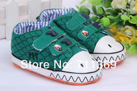 Canvas Velcro Baby Shoes Girl Boy  Dragon Antiskid shoe total 3 Size 3 pairs Free Shipping