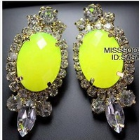 Queen in 2014, selling van fluorescent color gems, European and American wind, ms earrings jewelry