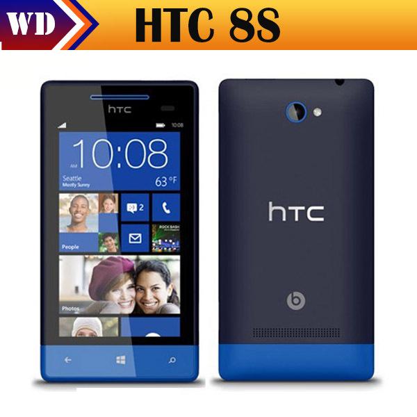 Original desbloqueado htc 8s a620e ventanas teléfono 8 dual- núcleo