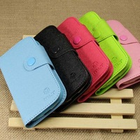 Mobile Phone Cover Case Fashion Wallet Leather Case With Card Holder  For Samsung Galaxy S4 mini I9190  Free Shipping