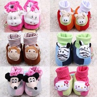 Free Shipping Fashion Cotton Pink Gold Leopard Cute Cartoon Cat Baby Shoes Soft Sole Baby Shoe
